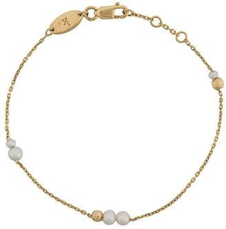 Redline 18 kt gold Nuit multi pearl chain bracelet