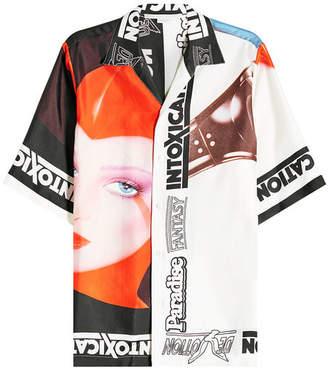 Stella McCartney Printed Silk Short-Sleeve Shirt