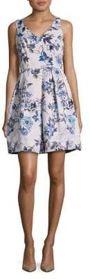 Taylor Floral Fit-&-Flare Party Dress