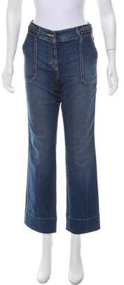 Rebecca Taylor Mid-Rise Straight-Leg Jeans