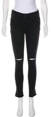 Etienne Marcel Embellished Mid-Rise Jeans Black Embellished Mid-Rise Jeans