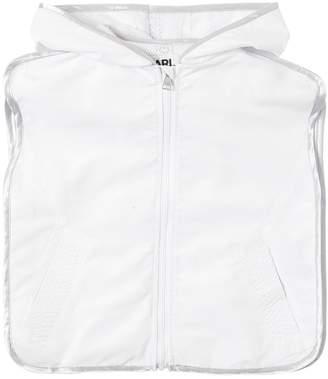Karl Lagerfeld Logo Printed Hooded Vest