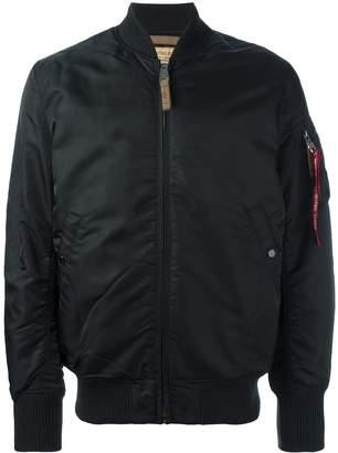 Alpha Industries padded bomber jacket