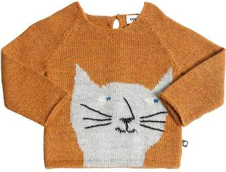 Oeuf Cat Baby Alpaca Knit Sweater