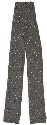 Tory Burch Embellished Knit Scarf