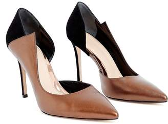 WtR - WtR Sculpture Bronze Leather Pointed Toe Heels