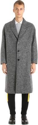 Neil Barrett Oversized Single Breasted Wool Felt Coat