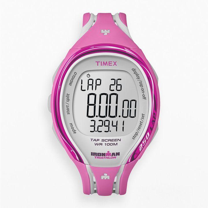 Timex ironman sleek 250-lap tapscreen digital chronograph watch - t5k591e4 - women