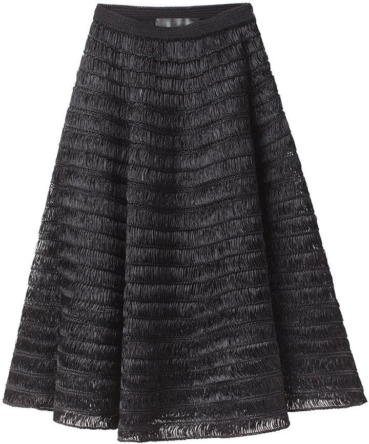 Proenza Schouler Full Raffia Skirt