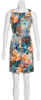 Peter Som Bouclé Floral Dress