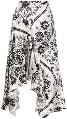 Caroline Constas abstract print asymmetric skirt