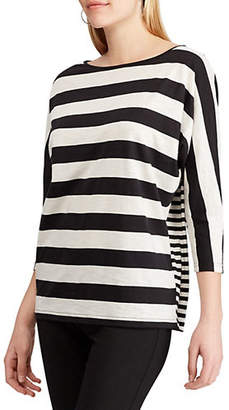 Chaps Petite Relaxed-Fit Striped Jersey T-Shirt