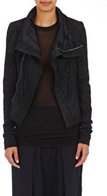Rick Owens Women's Blistered-Leather Naska Biker Jacket-BLACK $2,355 thestylecure.com