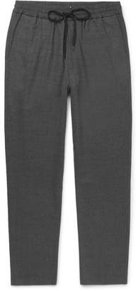Barena Stretch-Virgin Wool Flannel Drawstring Trousers