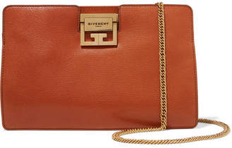 Givenchy Gv3 Textured-leather Shoulder Bag - Tan