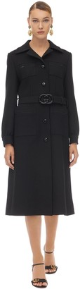 Gucci GG BELTED WOOL NATTE COAT