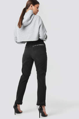 "NA-KD Josefine Simone X Chance"" High Waist Straight Jeans Black"
