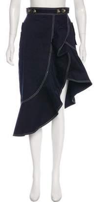 Self-Portrait Flounced Canvas Skirt w/ Tags