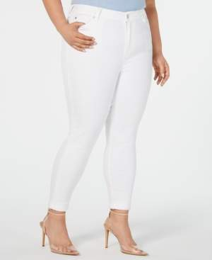 Celebrity Pink Trendy Plus Size High-Rise Cropped Skinny Ankle Jeans