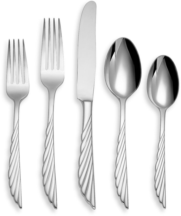 Marchesa by Lenox® Pleated Swirl Flatware 5-Piece Place Setting