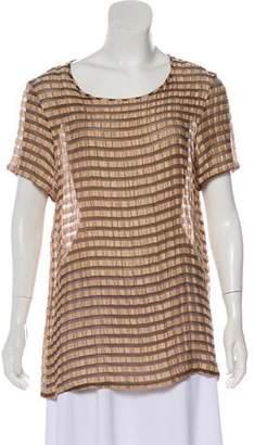 Richard Chai Textured Linen & Silk-Blend Top