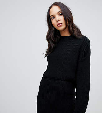 Asos Tall DESIGN Tall two-piece cropped oversized sweater in rib