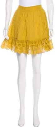 Ulla Johnson Embroidered Mini Skirt