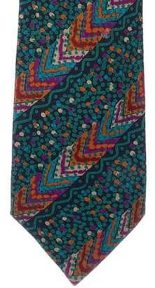 Missoni Geometric Print Silk Tie