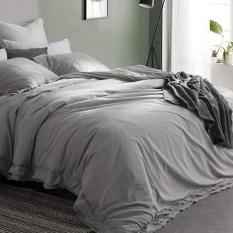 Byourbed Leixoes Textura - 200TC Percale Stone Wash Duvet Cover