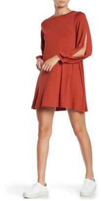 Angie Slit Long Sleeve Knit Dress
