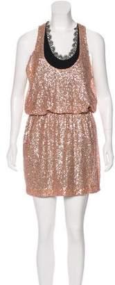 Robert Rodriguez Silk Sequined Dress