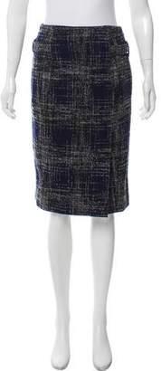 Oscar de la Renta Tweed Knee-Length Skirt