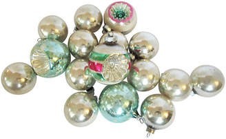 One Kings Lane Vintage 1960's Glass Christmas Ornaments Set of 16 - AntiqueLifestyle