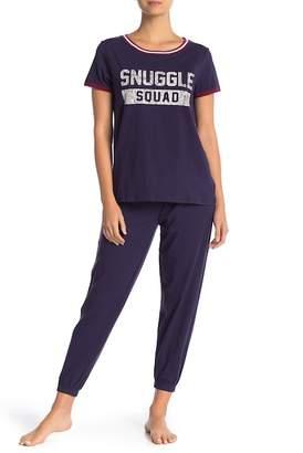 Jane & Bleecker New York Short Sleeve PJ Tee & Pant Set