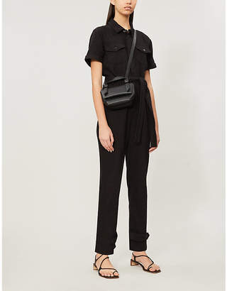 Good American Waist-tie cotton-twill jumpsuit