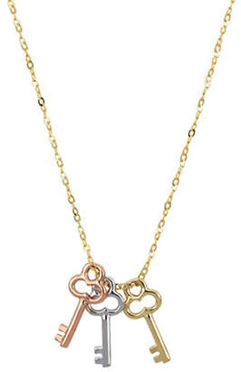 Tag Heuer FINE JEWELLERY Tri-Colour 10K Goldplated Key Necklace