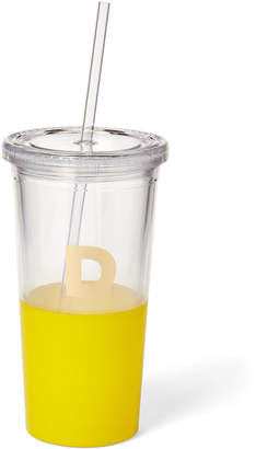 Kate Spade Yellow Monogram Insulated Tumbler