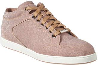 Jimmy Choo Miami Glitter Leather Sneaker