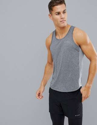 Asos 4505 training tank with breathable mesh and racer back in gray