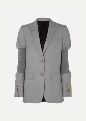 Burberry Wool And Stretch-knit Blazer - Gray