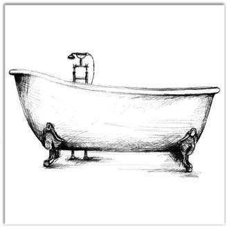 Laundry by Shelli Segal Williston Forge 'Vintage Bathtub' Graphic Art Print on Canvas