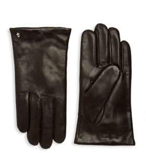 Roberto Cavalli Wool Lined Leather Gloves
