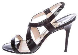 Manolo Blahnik Patent Leather High-Heel Sandals