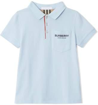 Burberry TEEN piqué polo shirt