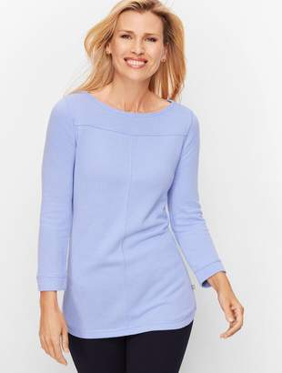 Talbots Textured French Terry Top