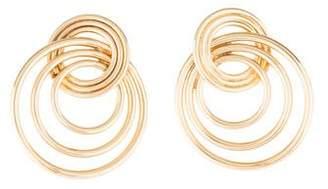 14K Spiral Drop Earrings