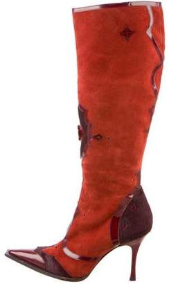 Dolce & Gabbana Suede Knee-High Boots