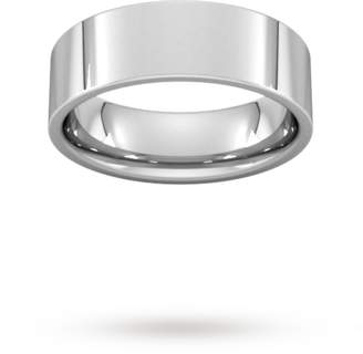 6mm Flat Court Heavy Wedding Ring in Platinum
