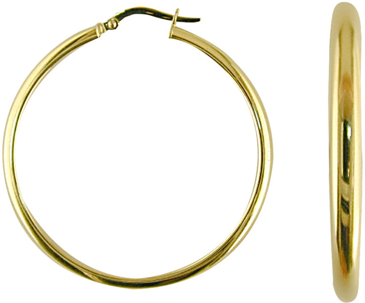 LORD & TAYLOR 14 Kt. Yellow Gold Polished Hoop Earrings