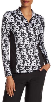 Peter Millar Long Sleeve Sun Comfort Print Zip Neck Pullover Jacket $89.50 thestylecure.com